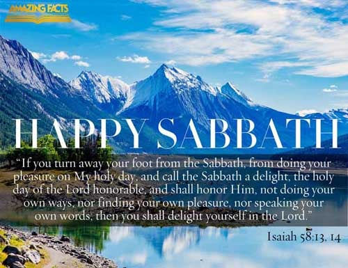 If thou turn away thy foot from the sabbath, from doing thy pleasure on my holy day; and call the sabbath a delight, the holy of the LORD, honourable; and shalt honour him, not doing thine own ways, nor finding thine own pleasure, nor speaking thine own words:  Then shalt thou delight thyself in the LORD; and I will cause thee to ride upon the high places of the earth, and feed thee with the heritage of Jacob thy father: for the mouth of the LORD hath spoken it. 