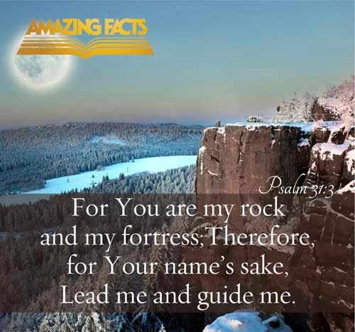 Psalms 31:3 - This Scripture Picture is provided courtesy of Amazing Facts.  Visit us at www.amazingfacts.org