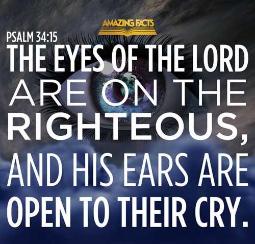 Psalms 34:15