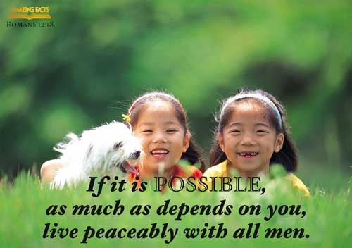 If it be possible, as much as lieth in you, live peaceably with all men. 
