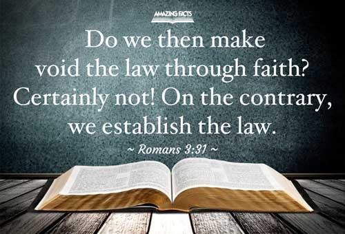 Do we then make void the law through faith? God forbid: yea, we establish the law. 