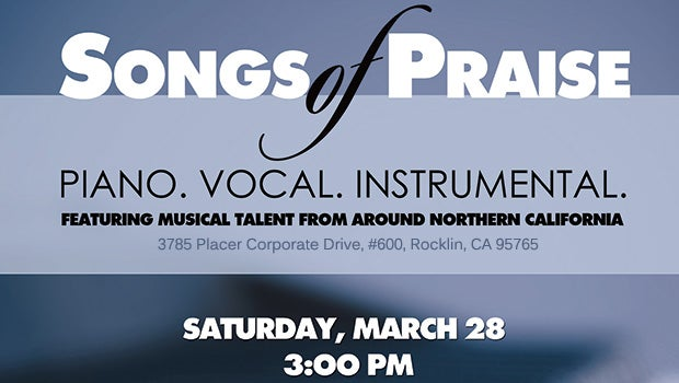 Join us March 28th for Songs of Praise!