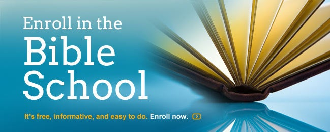 Enroll in our free online Bible school!