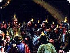 8. What happened when the disciples received the outpouring of the Holy Spirit?