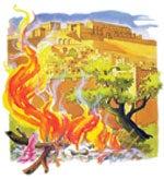"""A tűz állandóan parázslott a """"Hinnom völgyé""""-ben."""