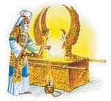 Prästens tjänst vid nådastolen representerade Jesu prästtjänst för oss i himlen.