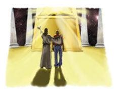 Jesus försvarar sina trogna efterföljare i rättegången och lovar dem en frikännande dom.