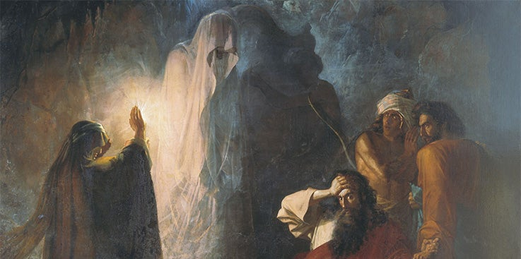 How did Saul speak to Samuel at Endor?