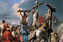 Crucificado con Cristo - Christ on the Cross - Giovanni Battista Tiepolo (1696–1770)