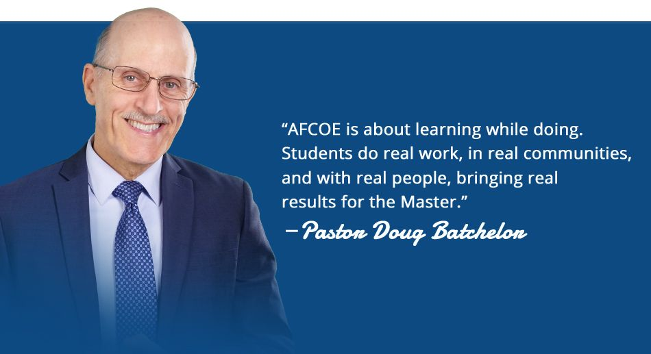Pastor Doug Quote about AFCOE
