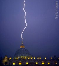 Lightning Strikes the Vatican!