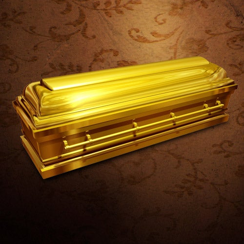 Gold-plated Coffin: Are You Going Out in Style?