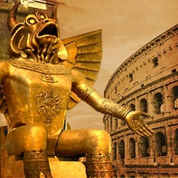 Image of Moloch Displayed at Roman Colosseum