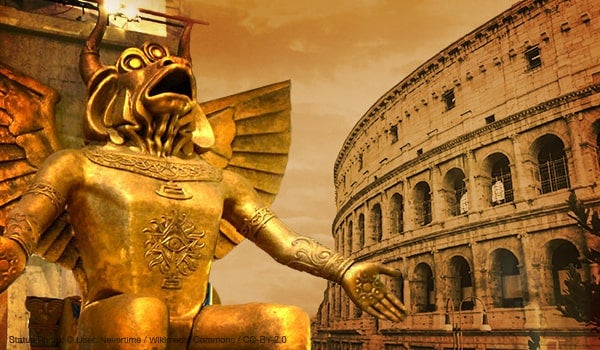 Image Of Moloch Displayed At Roman Colosseum Af Blog