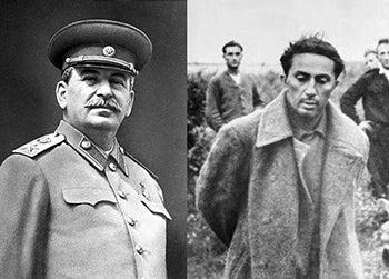 Joseph Stalin and his son Yakov
