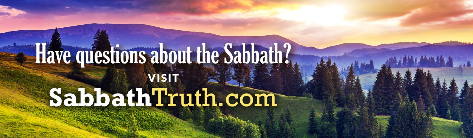 Learn more about the Sabbath!