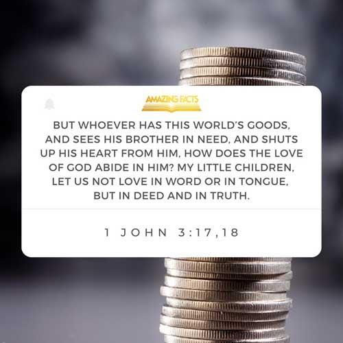 1 John 3:17-18
