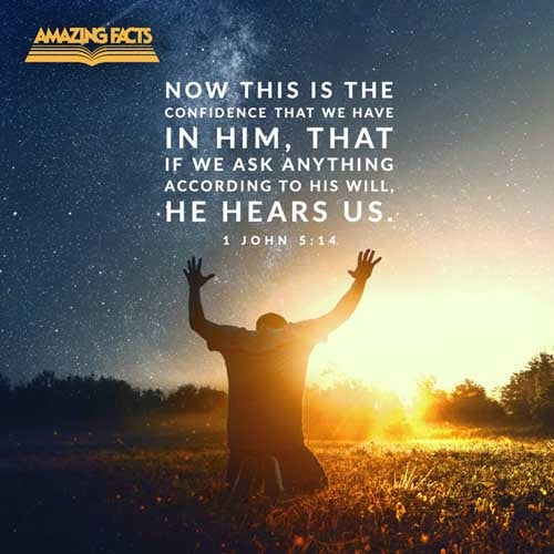 And this is the confidence that we have in him, that, if we ask any thing according to his will, he heareth us: 1 John 5:14