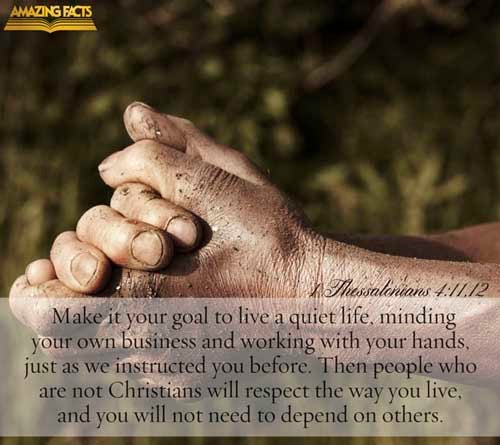 1 Thessalonians 4:11-12