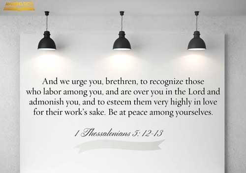 1 Thessalonians 5:12-13