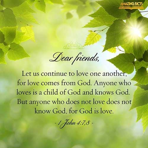 1 John 4:7-8