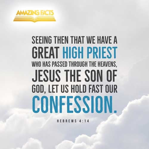 Seeing then that we have a great high priest, that is passed into the heavens, Jesus the Son of God, let us hold fast our profession. 