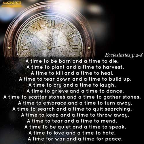 Ecclesiastes 3:2-8