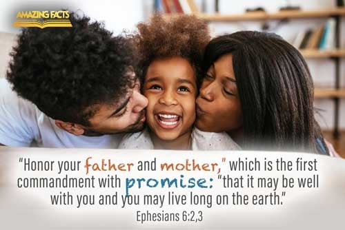 Honour thy father and mother; which is the first commandment with promise;  That it may be well with thee, and thou mayest live long on the earth. 