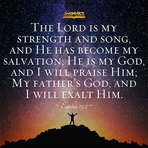 Bible Quotes Mobile Wallpapers-Exodus 15:2 Download The Lord is my ...