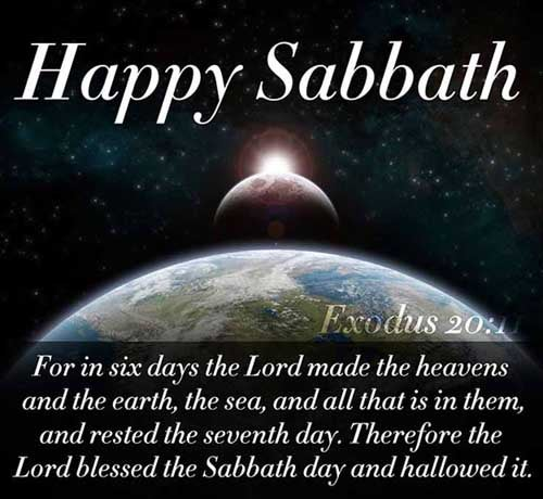 For in six days the LORD made heaven and earth, the sea, and all that in them is, and rested the seventh day: wherefore the LORD blessed the sabbath day, and hallowed it. <br />(Exodus 20:11)
