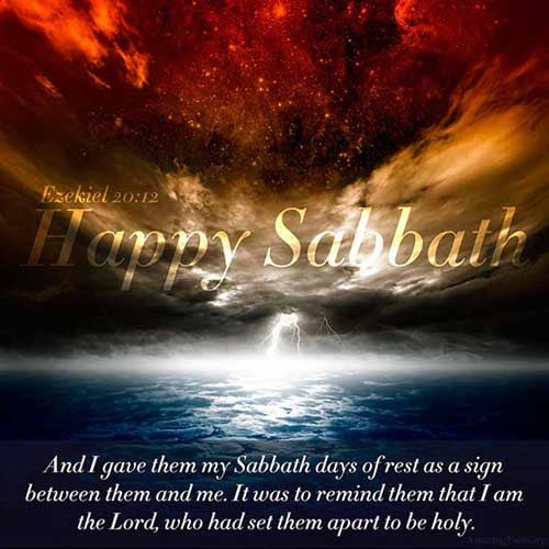 Moreover also I gave them my sabbaths, to be a sign between me and them, that they might know that I am the LORD that sanctify them. <br />(Ezekiel 20:12)