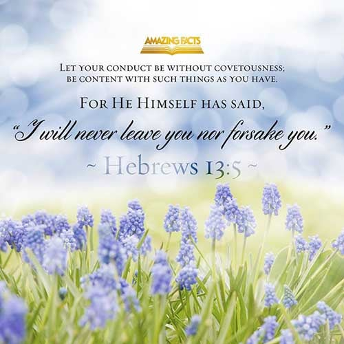 Hebrews 13:5