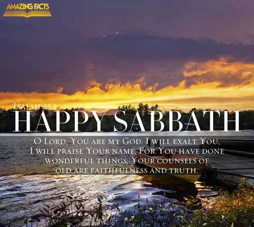 Isaiah 25:1 - This Scripture Picture is provided courtesy of Amazing Facts.  Visit us at www.amazingfacts.org