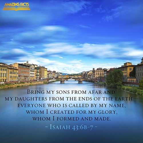 Isaiah 43:6-7