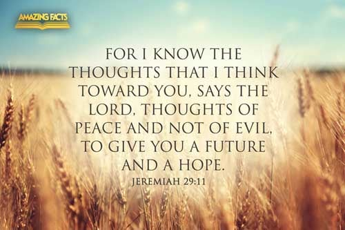 For I know the thoughts that I think toward you, saith the LORD, thoughts of peace, and not of evil, to give you an expected end. 