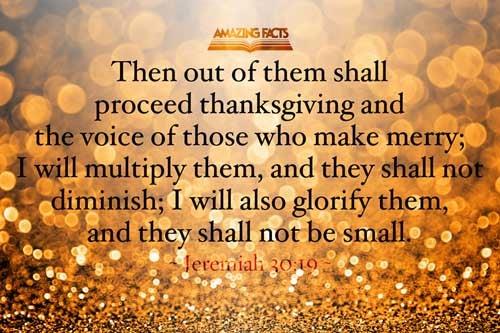 Jeremiah 30:19