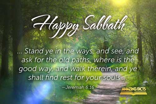 Thus saith the LORD, Stand ye in the ways, and see, and ask for the old paths, where is the good way, and walk therein, and ye shall find rest for your souls. But they said, We will not walk therein. 