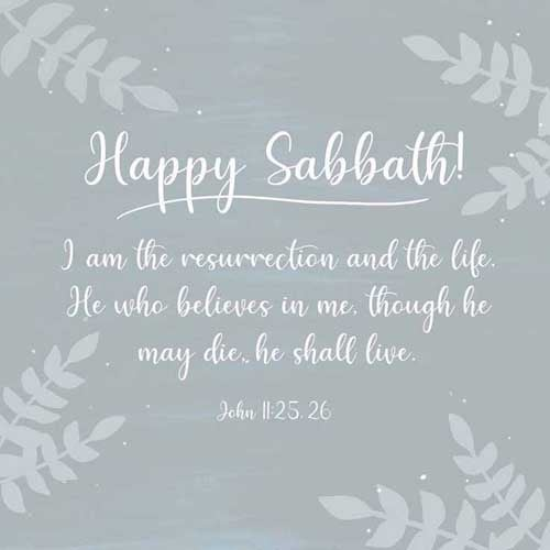 Jesus said unto her, I am the resurrection, and the life: he that believeth in me, though he were dead, yet shall he live:  And whosoever liveth and believeth in me shall never die. Believest thou this? 