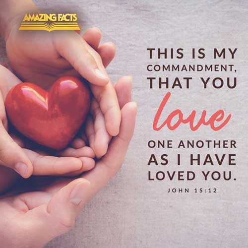 This is my commandment, That ye love one another, as I have loved you. John 15:12