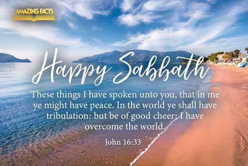 These things I have spoken unto you, that in me ye might have peace. In the world ye shall have tribulation: but be of good cheer; I have overcome the world. 