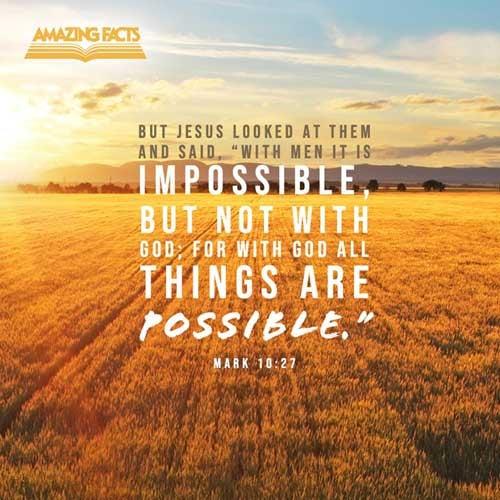 Mark 10:27