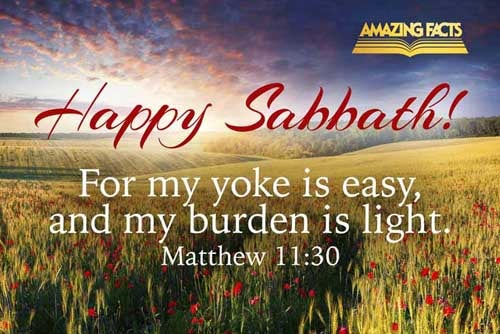 For my yoke is easy, and my burden is light. 