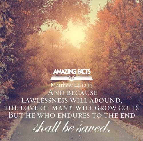 Matthew 24:12-13