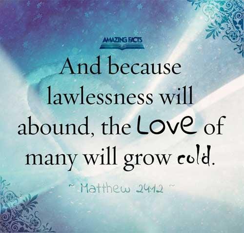 Matthew 24:12