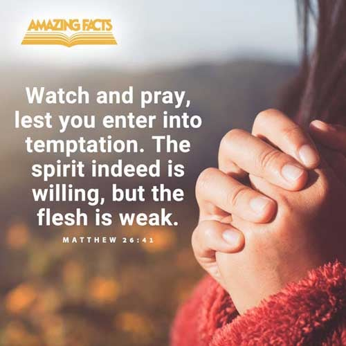 Watch and pray, that ye enter not into temptation: the spirit indeed is willing, but the flesh is weak. 
