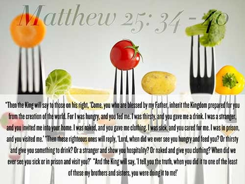 Matthew 25:34-40