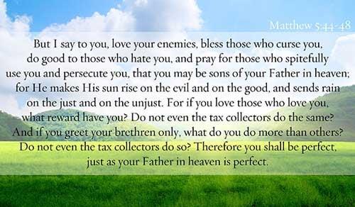 Matthew 5:44-48