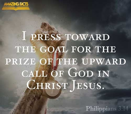 I press toward the mark for the prize of the high calling of God in Christ Jesus. 