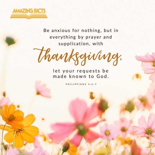 Be careful for nothing; but in every thing by prayer and supplication with thanksgiving let your requests be made known unto God.  And the peace of God, which passeth all understanding, shall keep your hearts and minds through Christ Jesus. 