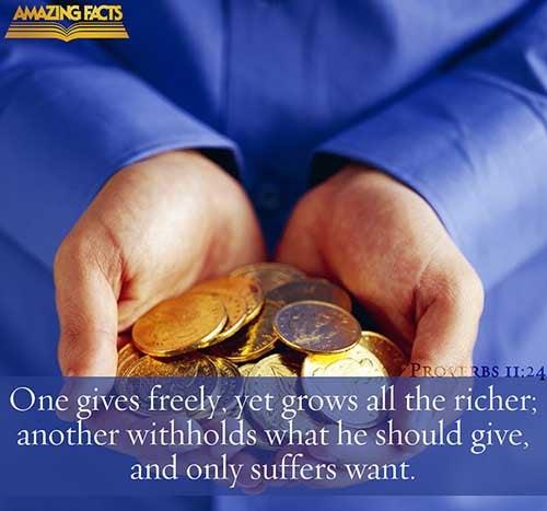 Proverbs 11:24